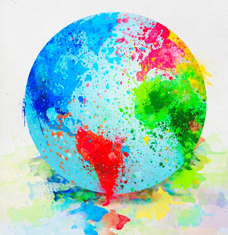 earth globe paint